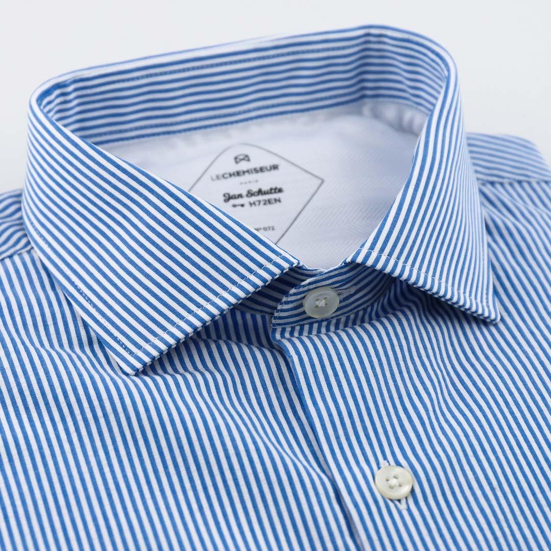 chemise homme seersucker rayures bleu