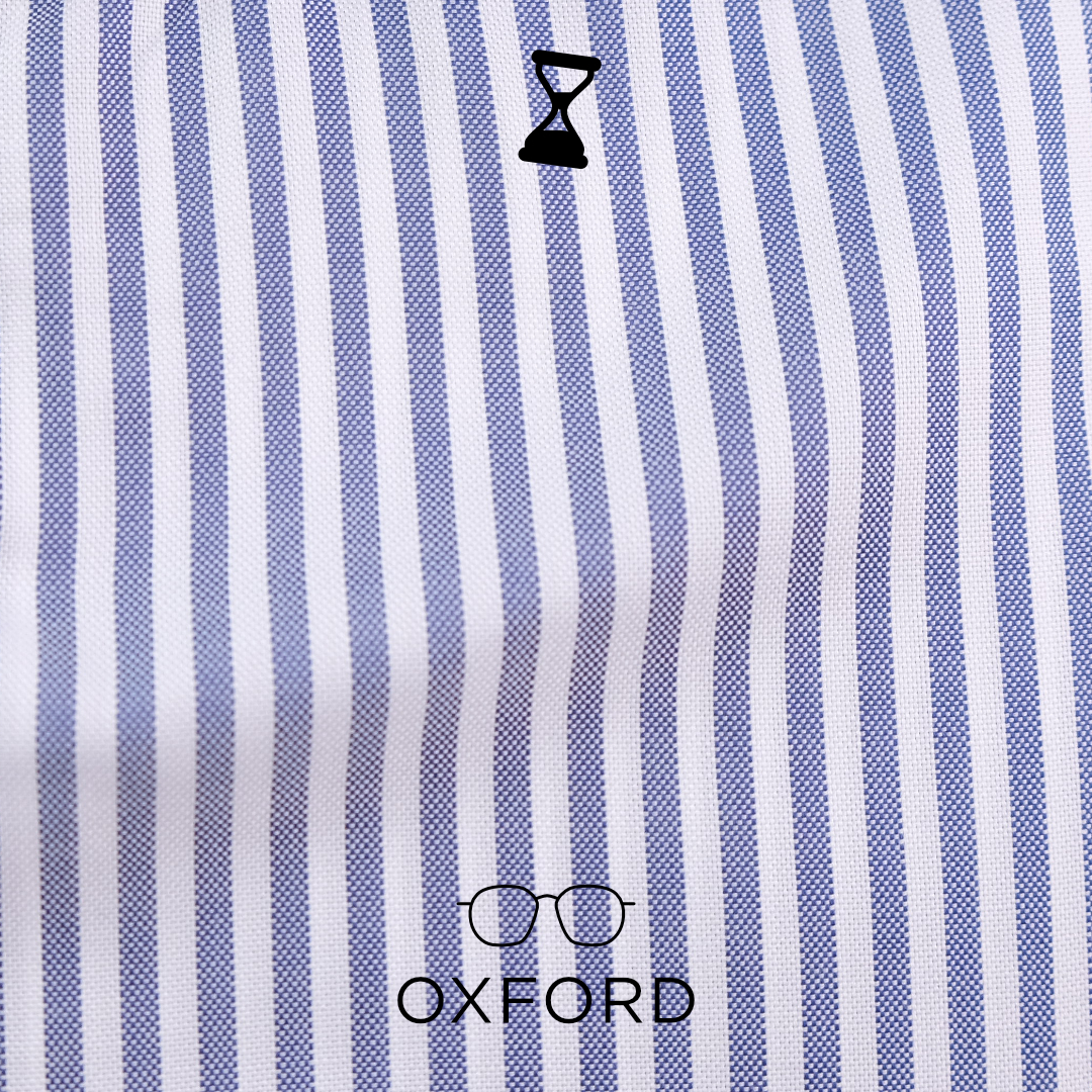Chemise Oxford Gris Bleu Homme Rayures Rb80 iTOPkXuwZl