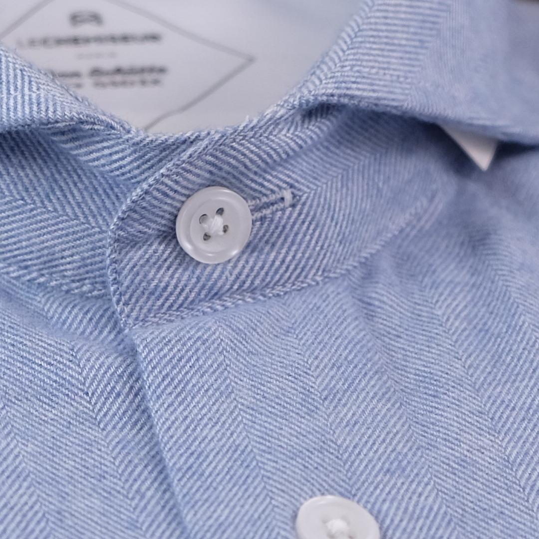 chemise flanelle homme bleue