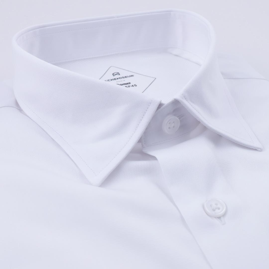 chemise homme popeline italienne blanc