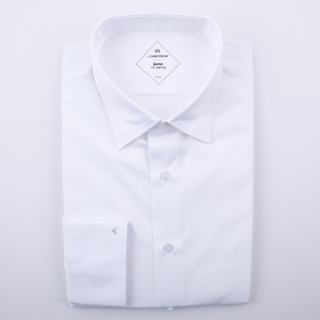 chemise homme popeline blanc