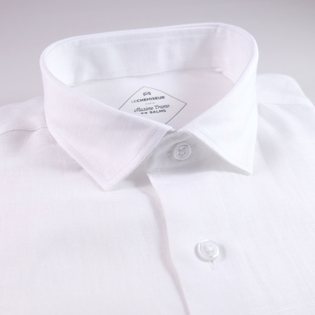 chemise homme blanc lin