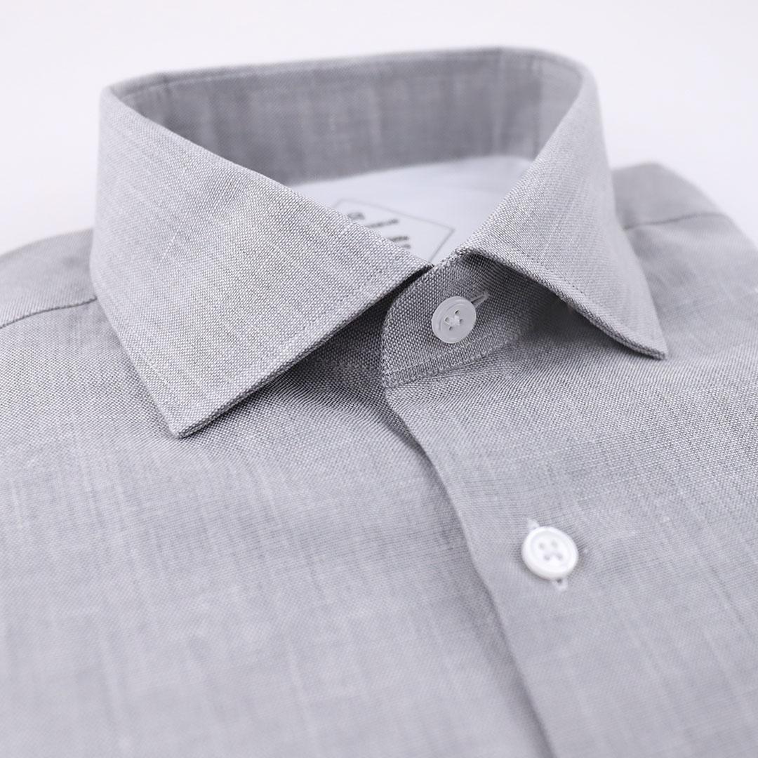 chemise homme lin gris