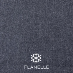 Chemise homme flanelle gris ardoise UY53