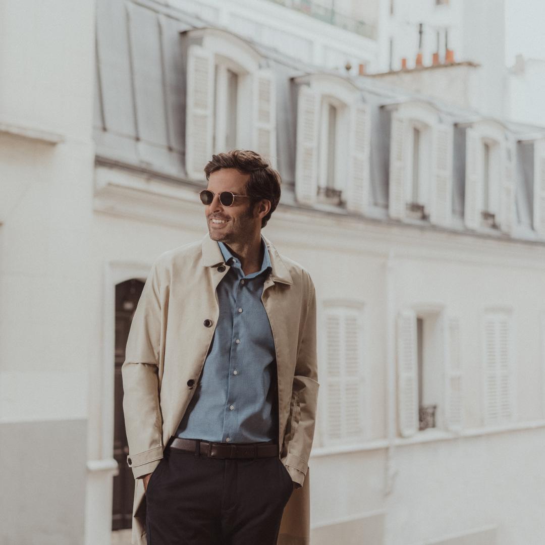 chemise homme accessoire lunettes