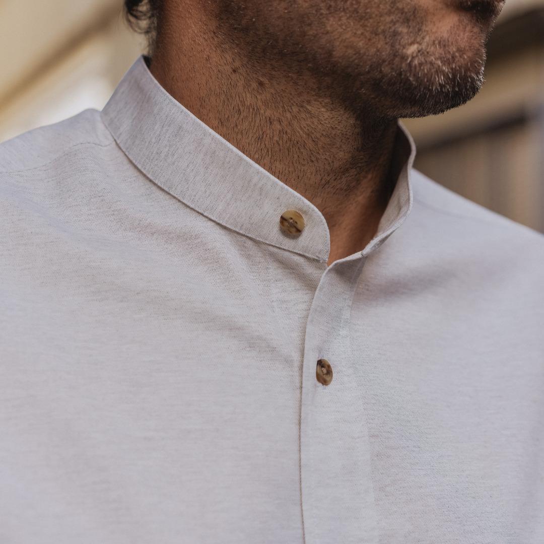 chemise homme sur mesure coton recyclé